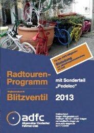 Radtourenprogramm 2013 - ADFC Siegen-Wittgenstein