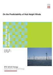 On the Predictability of Hub Height Winds - DTU Orbit