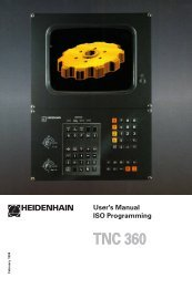 User's Manual ISO TNC 360 (260020xx, 280490xx) - heidenhain