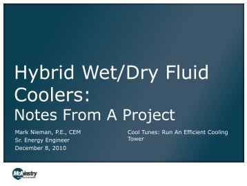 Hybrid Wet/Dry Fluid Coolers - Resource Venture