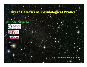 Dwarf Galaxies as Cosmological Probes - Berkeley Cosmology Group