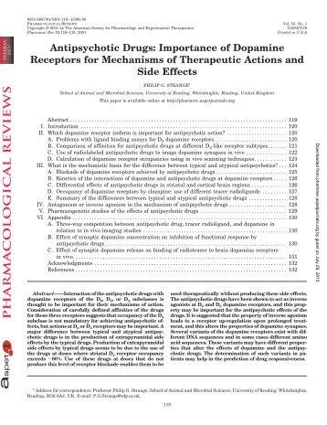Antipsychotic Drugs - Pharmacological Reviews - Aspetjournals.org