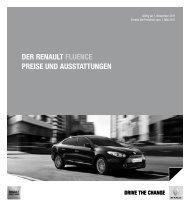Der renault Fluence Preise unD ausstattungen - Renault Preislisten