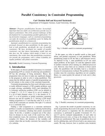 Parallel Consistency in Constraint Programming
