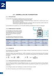 2.1. SEMELLES DE FONDATION - Horus