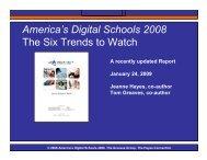 America's Digital Schools 2008 The Six Trends to Watch