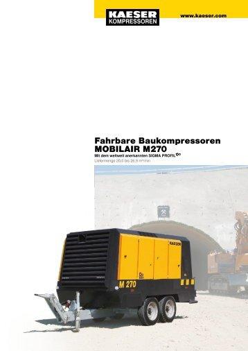 Fahrbare Baukompressoren MOBILAIR M 270 - SEITZ Drucklufttechnik