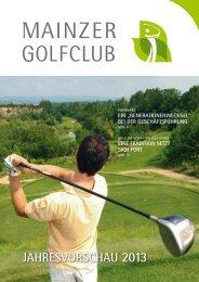 JAHRESVORSCHAU 2013 - Mainzer Golfclub