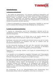 Einkaufsbedingungen - Josef Timmer GmbH
