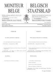 MONITEUR BELGE BELGISCH STAATSBLAD - ICRC