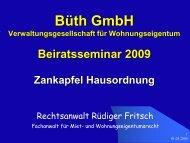 Hausordnung 2009 (PDF) - Büth GmbH