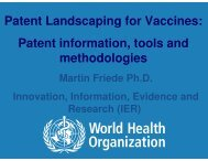 Patent Landscaping for Vaccines: Patent information, tools and ...