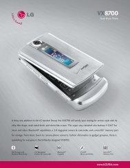 VX8700 Datasheet - LG Electronics