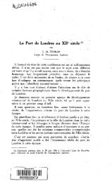 Le port de Londres au XIIe siecle