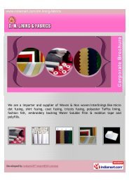 We are a importer and supplier of Woven & Non woven ... - Imimg
