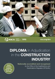 Diploma in Adjudication in the ConstruCtion inDustry - RICS