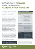 Diploma in Adjudication in the ConstruCtion inDustry - RICS - Page 2