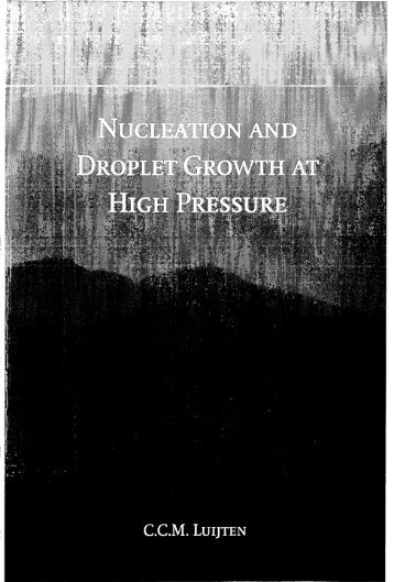 NUCLEATIoN AND DRoPLET GROWTH AT HIGH PRESSURE