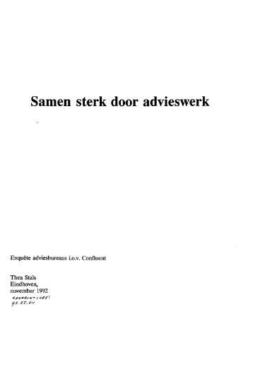 Samen sterk door advieswerk - Technische Universiteit Eindhoven