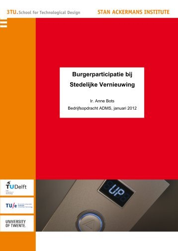Burgerparticipatie bij Stedelijke Vernieuwing - Technische ...