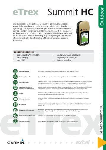 garmin etrex summit hc manual download