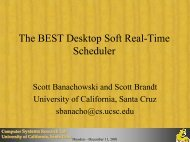 The BEST Desktop Soft Real-Time Scheduler - University of ...