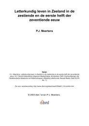Letterkundig leven in Zeeland in de zestiende en - digitale ...
