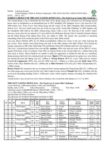 PDF(45kb) - Horse Racing in Japan