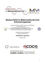 Projektbericht Kurzfassung - Regionales Fachdidaktikzentrum ...