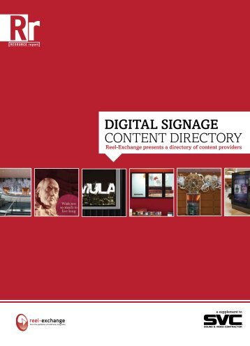 a pdf - digital signage content directory - Reviews & Features cameras