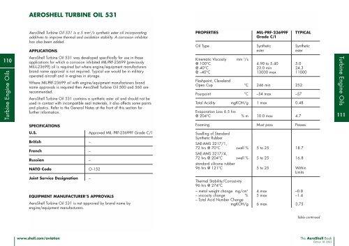 AEROSHELL TURBINE OIL 531 pdf