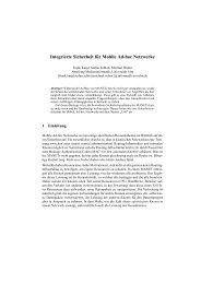 Integrierte Sicherheit für Mobile Ad-hoc Netzwerke - ResearchGate
