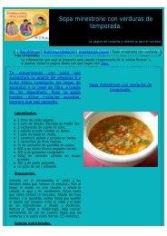 Sopa minestrone con verduras de temporada. - corredores-populares.