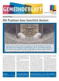 aktuelle Gemeindeblatt - Reformierte Kirchgemeinde Solothurn
