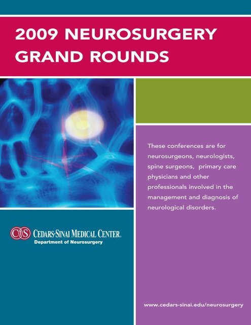 2009 NEUROSURGERY GRAND ROUNDS - Cedars-Sinai