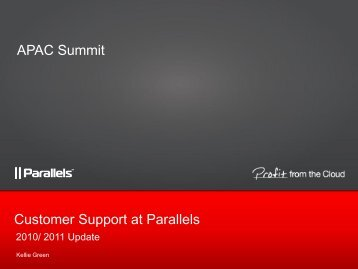 Customer Support at Parallels APAC Summit