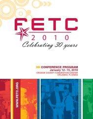 FETC 2010 Conference Program
