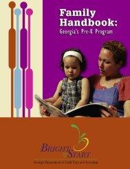 Georgia Pre-K Program Family Handbook - Bright from the Start