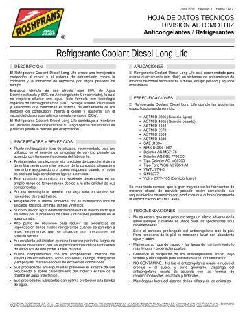 Refrigerante Coolant Diesel Long Life - Roshfrans