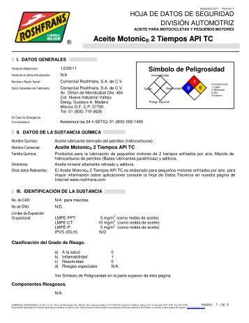 Aceite Motonic ® 2 Tiempos API TC - Roshfrans