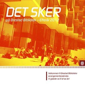 Arrangementsprogram - Københavns Biblioteker