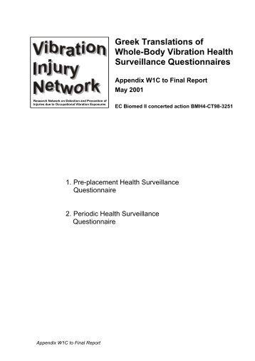 Greek Translations of Whole-Body Vibration Health Surveillance ...