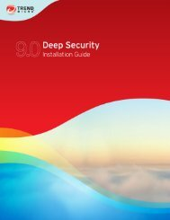 Deep Security 9 Installation Guide - Online Help Home - Trend Micro