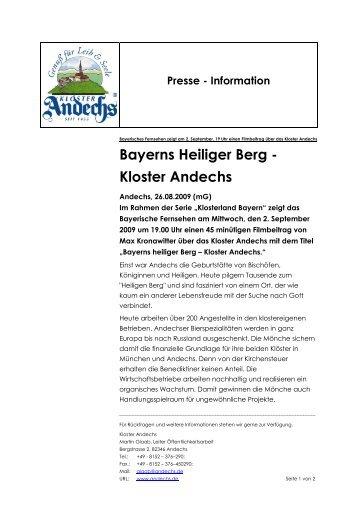 Bayerns Heiliger Berg - Kloster Andechs