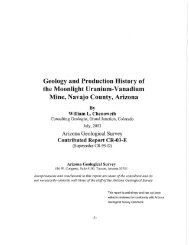 Geology and Production History of the Moonlight Uranium - AZGS ...
