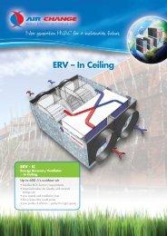 ERV – In Ceiling - Industrial Air
