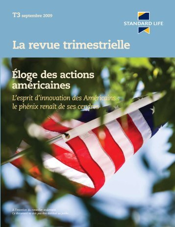 La revue trimestrielle septembre 09' (F6263) - Standard Life