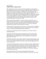 John R. LENZ Animal Sacrifice: Feeding the Deities Why did the ...