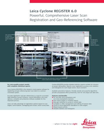 Leica Cyclone REGISTER 6.0 Powerful, Comprehensive Laser Scan ...