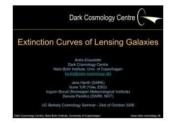 Dark Cosmology Centre